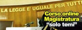 Corso online Magistratura - solo temi