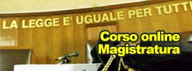 Corso online Magistratura