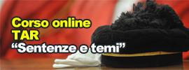 """Corso online TAR """"Sentenze e temi"""""""