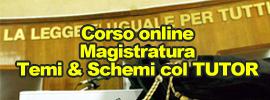 Corso magistratura Temi & Schemi col TUTOR