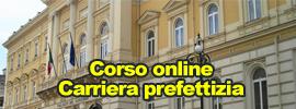 Corso on line Carriera Prefettizia
